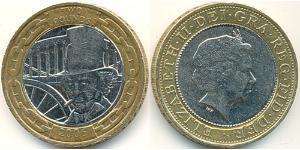 2 Pound Regno Unito (1922-)  Elisabetta II (1926-)