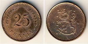 25 Penny Finland (1917 - ) Copper