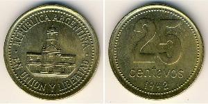 25 Centavo Argentina (1861 - ) Ottone