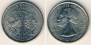 1/4 Dólar Estados Unidos de América (1776 - ) Níquel/Cobre
