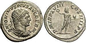 1 Антониниан Римская империя (27BC–395) Серебро 215 Каракалла (188–217)