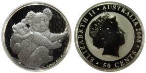 50 Cent Australia (1939 - ) Argento Elisabetta II (1926-)