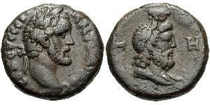 1 Tetradrachm Römische Kaiserzeit (27BC-395) Bronze Antoninus Pius  (86-161)