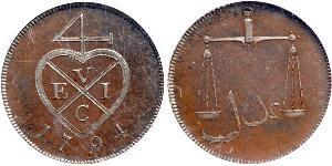 4 Paisa Indien (1950 - ) Kupfer