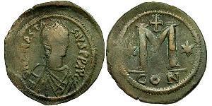 1 Follis Impero bizantino (330-1453) Bronzo Anastasio I (430-518)