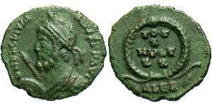 1 Follis /  AE3 Impero romano (27BC-395) Bronzo Giuliano II  (331-363)