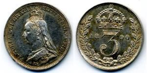 Threepence United Kingdom of Great Britain and Ireland (1801-1922) Silver Victoria (1819 - 1901)