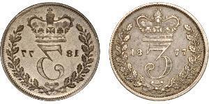1 Threepence Regno Unito di Gran Bretagna e Irlanda (1801-1922) Argento Vittoria (1819 - 1901)