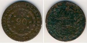 20 Reis Impero del Brasile (1822-1889) Rame