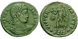 AE4 Roman Empire (27BC-395) Bronze Constans I (320-350)