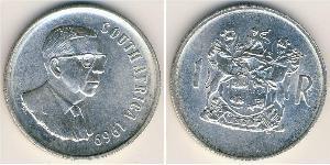 1 Rand Sudafrica Argento