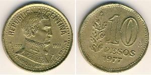 10 Peso Argentina (1861 - ) Alluminio/Bronzo