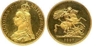 5 Pound British Empire (1497 - 1949) / United Kingdom of Great Britain and Ireland (1801-1922) Gold Victoria (1819 - 1901)