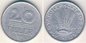20 Filler Hungría (1989 - ) Aluminio
