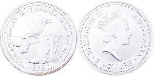 2 Dollar Australien (1939 - ) Silber Elizabeth II (1926-)