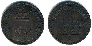 1 Pfennig Kingdom of Prussia (1701-1918) Copper