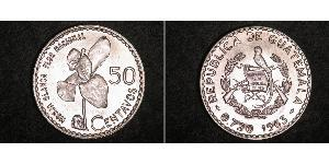 50 Centavo Guatemala (1838 - ) Argento