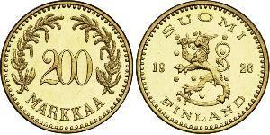 200 Mark Finland (1917 - ) Gold