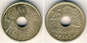 25 Peseta Regno di Spagna (1976 - ) Rame/Nichel