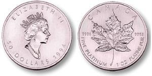 50 Dollar Canada Platine Elizabeth II (1926-)