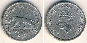 1/4 Rupee British Raj (1858-1947) Nickel