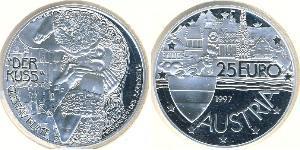 25 Евро Австрийская Республика(1955 - ) Серебро