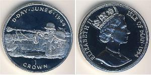 1 Krone Isle of Man Silber Elizabeth II (1926-)