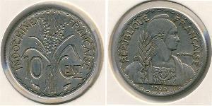10 Centavo French Indochina (1887-1954) Nickel