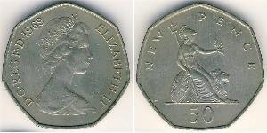 50 Penny United Kingdom Copper/Nickel