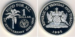 1 Dólar Trinidad y Tobago Plata