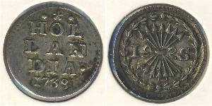 1 Стивер Республика Соединённых провинций (1581 - 1795) Серебро