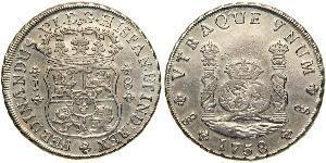 8 Real Chile Silver Ferdinand VI of Spain (1713-1759)