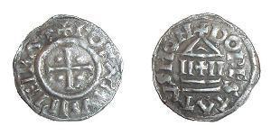 1 Dinar Kingdom of France (843-1791) Argent Lothaire I (795 -855)