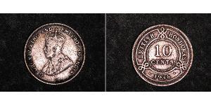 10 Цент Британский Гондурас (1862-1981) Серебро Георг V (1865-1936)