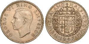 1/2 Crown New Zealand Copper/Nickel George VI (1895-1952)