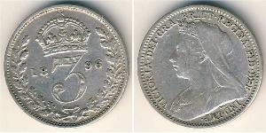 Пені Сполучене королівство Великобританії та Ірландії (1801-1922) Срібло Вікторія (1819 - 1901)