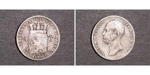 1/2 Gulden Kingdom of the Netherlands Silver William II of the Netherlands (1792 - 1849)