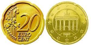 20 Eurocent Allemagne Cuivre/Tin/Aluminium/Zinc