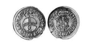 2 Kreuzer Electorate of Bavaria (1623 - 1806) Plata Fernando María, Elector de Baviera(1636 – 1679)