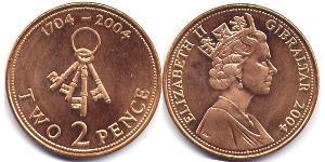 2 Penny Gibraltar