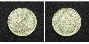 5 Soldo Papal States (752-1870) Silver Pope Pius IX (1792- 1878)