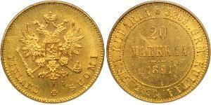 20 Mark Russian Empire (1720-1917) / Finland (1917 - ) Gold Alexander III (1845 -1894)