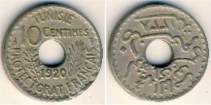 10 Centimo Tunisia Bronze/Nickel