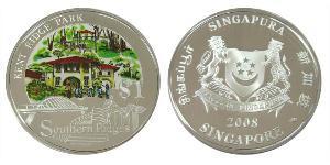 1 Dollaro Singapore Argento