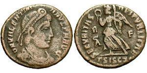 AE3 Roman Empire (27BC-395) Bronze Valentinian I  (321-375)