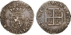 1 Testoon Regno di Scozia (843-1707) Argento Mary I of Scots (1542-1587)