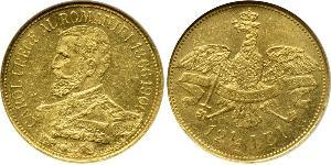 12.5 Leu Kingdom of Romania (1881-1947) Gold Carol I of Romania (1839 - 1914)