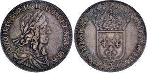 1 Экю Франкское королевство (843–1791) Серебро 1643 Людовик XIII