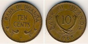 10 Cent Uganda Bronze