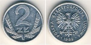 2 Zloty República Popular de Polonia (1952-1990) Aluminio